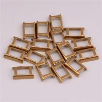 Messing Tasche-Schnalle, DIY, originale Farbe, frei von Nickel, Blei & Kadmium, 4.5x7.3mm, 50PCs/Tasche, verkauft von Tasche