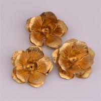 Haarband Zubehöre, Messing, Blume, originale Farbe, frei von Nickel, Blei & Kadmium, 21.6mm, Bohrung:ca. 1.1mm, 50PCs/Tasche, verkauft von Tasche