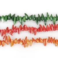 Natürliche Korallen Perlen, Koralle, keine, 6-13x16-26x5-14mm, Bohrung:ca. 1.5mm, verkauft von kg