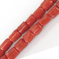 Natürliche Korallen Perlen, Koralle, rote Orange, 17-22x14-16x13-16mm, Bohrung:ca. 1.5mm, verkauft von kg