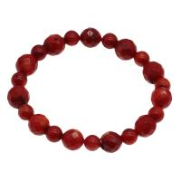 Korallen Armband, Koralle, für Frau & facettierte, rot, 11mm,7mm, verkauft per ca. 7.5 ZollInch Strang