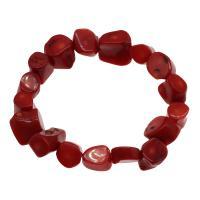 Korallen Armband, Koralle, für Frau, rot, 10*9mm-19*12mm, verkauft per ca. 7.5 ZollInch Strang