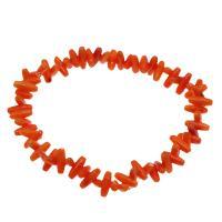 Korallen Armband, Koralle, für Frau, rote Orange, 8*3mm-9*3mm, verkauft per ca. 7.5 ZollInch Strang