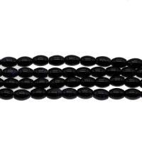 Blaue Goldstein Perlen, blauer Goldsand, schwarz, 8*6mm, Bohrung:ca. 0.5mm, Länge:15.7 ZollInch, 5SträngeStrang/Tasche, verkauft von Tasche