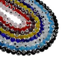Böser Blick Lampwork Perlen, blöser Blick, verschiedene Größen vorhanden, keine, Bohrung:ca. 1mm, Länge:15.7 ZollInch, 5SträngeStrang/Tasche, verkauft von Tasche