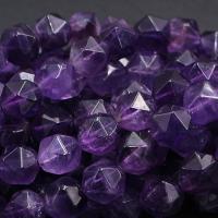 Natürliche Amethyst Perlen, poliert, DIY & verschiedene Größen vorhanden & facettierte, violett, verkauft per ca. 15 ZollInch Strang