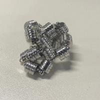 Magnetverschluss Schmuck , Messing, Silberfarbe, frei von Nickel, Blei & Kadmium, 11.57x7.94mm, 50PCs/Menge, verkauft von Menge