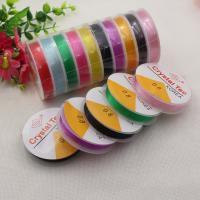 Elastisches Garn, Polyester, DIY & verschiedene Größen vorhanden, gemischte Farben, frei von Nickel, Blei & Kadmium, 10PCs/Menge, verkauft von Menge