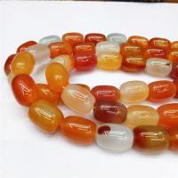 Natürlich rote Achat Perlen, Roter Achat, DIY, rot, 18*13mm, ca. 22PCs/Strang, verkauft von Strang