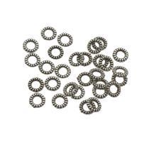 Verschiedene Komponente, Zinklegierung, antik silberfarben plattiert, hohl, frei von Nickel, Blei & Kadmium, 1x6mm, Bohrung:ca. 3mm, ca. 10000PCs/kg, verkauft von kg