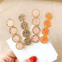 Schnabelspange, Zinklegierung, mit Kristall, handgemacht, für Frau, keine, 6x2cm, 10PCs/Menge, verkauft von Menge