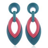 Acryl Tropfen Ohrring, mit Harz, für Frau & hohl, keine, 27x72mm, 2PaarePärchen/Menge, verkauft von Menge