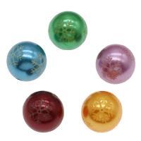 Gemischte Acrylperlen, Acryl, rund, gemischte Farben, 20mm, Bohrung:ca. 2mm, ca. 200PCs/Tasche, verkauft von Tasche
