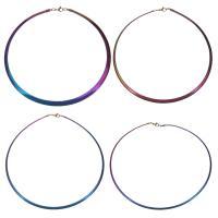Edelstahl -Kragen-Halskette, plattiert, verschiedene Größen vorhanden & Schlangekette & für Frau, verkauft per ca. 17.5 ZollInch Strang