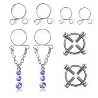 Edelstahl Brustpiercing Ring, für Frau, 4PaarePärchen/setzen, verkauft von setzen