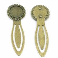 Zinklegierung Lesezeichen Zubehöre, DIY, antike Bronzefarbe, 18mm, 100PC/Menge, verkauft von Menge