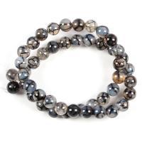 Natürliche Crackle Achat Perlen, Geknister Achat, rund, DIY & verschiedene Größen vorhanden, keine, verkauft von Strang