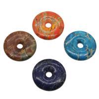 Imperial-Jaspis Anhänger, Impression Jaspis, Kreisring, keine, 40*7mm, Bohrung:ca. 7mm, verkauft von PC