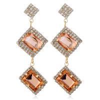 Acryl Tropfen Ohrring, plattiert, für Frau & mit Strass, keine, 25x66mm, verkauft von Paar