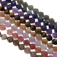 Edelstein Schmuckperlen, rund, verschiedenen Materialien für die Wahl & facettierte, 10mm, Bohrung:ca. 1mm, verkauft per ca. 14.9 ZollInch Strang