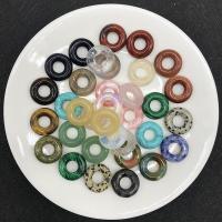Edelstein Schmuckperlen, Kreisring, verschiedenen Materialien für die Wahl & großes Loch, 20*5mm, Bohrung:ca. 8mm, verkauft von PC