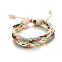 Gewachste Nylonschnur Armband, einstellbar & für Frau, Länge:ca. 7.8 ZollInch, 2SträngeStrang/Menge, verkauft von Menge