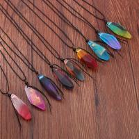 Harz Halskette, mit Baumwolle Schnur, für Frau, keine, 60x20mm, verkauft von PC