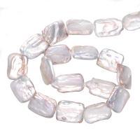 Barock kultivierten Süßwassersee Perlen, Natürliche kultivierte Süßwasserperlen, natürlich, weiß, 15-22mm, Bohrung:ca. 0.8mm, verkauft von Strang