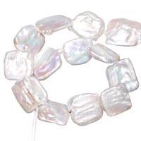 Barock kultivierten Süßwassersee Perlen, Natürliche kultivierte Süßwasserperlen, natürlich, weiß, 20-25mm, Bohrung:ca. 0.8mm, verkauft per ca. 15 ZollInch Strang