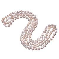 Süßwasserperlen Pullover Halskette, Natürliche kultivierte Süßwasserperlen, Keishi, natürlich, für Frau, keine, 7-12mm, verkauft per ca. 64 ZollInch Strang