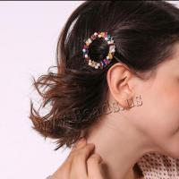 Haarschieber, Kristall, plattiert, für Frau, mehrere Farben vorhanden, 52mm, verkauft von Strang