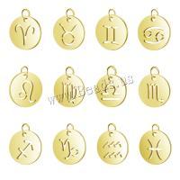 Edelstahl-Konstellation -Anhänger, Edelstahl, plattiert, verschiedene Stile für Wahl & hohl, goldfarben, 10PCs/Menge, verkauft von Menge