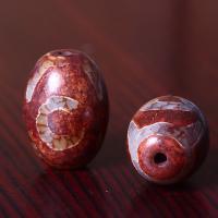 Buddhistische Perlen, Xingyue Bodhi, Trommel, poliert, DIY, rot, frei von Nickel, Blei & Kadmium, 16x24mm, Bohrung:ca. 1mm, 5PCs/Menge, verkauft von Menge