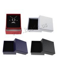 Schmuck Geschenkkarton, Karton, keine, 75x75x35mm, 20PCs/Tasche, verkauft von Tasche