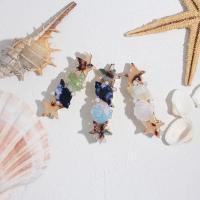Haarschieber, Messing, mit Kunststoff Perlen & Acryl, plattiert, für Frau, keine, 64*13mm, 5PC/Tasche, verkauft von Tasche