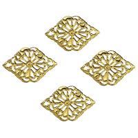 Eisen Anhänger Zubehör, goldfarben plattiert, hohl, frei von Nickel, Blei & Kadmium, 22x15x1mm, 500PCs/Tasche, verkauft von Tasche