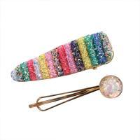 Haarschieber, Zinklegierung, mit Kunststoff Pailletten & Harz, goldfarben plattiert, für Frau, keine, frei von Nickel, Blei & Kadmium, 70mm,82mm, verkauft von setzen