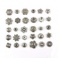 Zinklegierung Perlenkappe, antik silberfarben plattiert, frei von Nickel, Blei & Kadmium, 8-15mm, 150PCs/setzen, verkauft von setzen