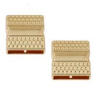 Zinklegierung Magnetverschluss, Rechteck, goldfarben plattiert, frei von Nickel, Blei & Kadmium, 20x20x12mm, Innendurchmesser:ca. 18x3mm, ca. 100PCs/Tasche, verkauft von Tasche