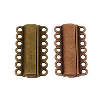 Zinklegierung Magnetverschluss, plattiert, keine, frei von Nickel, Blei & Kadmium, 39x21x6mm, Bohrung:ca. 2mm, ca. 100PCs/Tasche, verkauft von Tasche