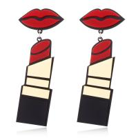 Harz Ohrring, Lippenstift, für Frau, 22x84mm, verkauft von Paar