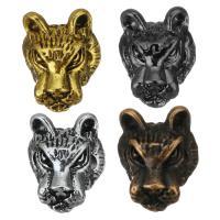 Zinklegierung Tier Perlen, Leopard, plattiert, keine, frei von Nickel, Blei & Kadmium, 10x11x8mm, Bohrung:ca. 2.5mm, 100PCs/Menge, verkauft von Menge