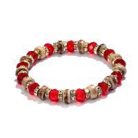 Kristall Armbänder, Natürlicher Quarz, mit Kokosrinde & Eisen, goldfarben plattiert, für Frau & facettierte & mit Strass, keine, 70mm, 2PCs/Tasche, verkauft von Tasche