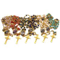 Kristall Zinklegierung Halskette, mit Zinklegierung, plattiert, unisex, mehrere Farben vorhanden, 46x21mm, verkauft per ca. 19.29 ZollInch Strang