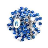 Kristall Zinklegierung Halskette, mit Zinklegierung, plattiert, unisex, mehrere Farben vorhanden, 44x24mm, verkauft von Strang