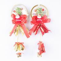 Kunststoff Christmas Bell, mit Messing, Weihnachtsmann, goldfarben plattiert, keine, 300mm, 2PCs/Tasche, verkauft von Tasche