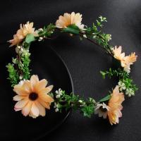 Stoff Haarband, mit Rohrstock, Blume, handgefertigt & für Braut & für Frau, keine, frei von Nickel, Blei & Kadmium, 530mm, verkauft von PC
