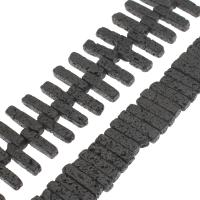 Natürliche Lava Perlen, schwarz, 28x8x7mm, Bohrung:ca. 1mm, ca. 45PCs/Strang, verkauft per ca. 14.9 ZollInch Strang