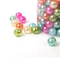ABS-Kunststoff-Perlen, ABS Kunststoff, Spritzgießen, DIY & verschiedene Größen vorhanden, gemischte Farben, 8mm,10mm, verkauft von Tasche