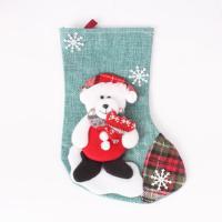 Nichtgewebte Stoffe Weihnachten Socke, Weihnachtssocke, verschiedene Stile für Wahl, 150*230mm, 2PCs/Tasche, verkauft von Tasche